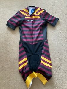 Skins Mens Burgundy,Black & Yellow All In One Cycling Set -BNWT-All Sizes
