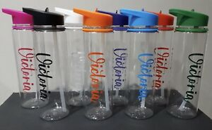 Personalised Water Bottle with sweet and straw