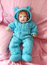 Baby-Set. Baby Ausfahrgarnitur Gr. 60-70.( ab 3 bis 6 M.a.). Handgestrickt. NEU!