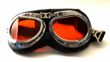 New Black Padded Steampunk Alternative Cyber Fantasy Goggles Red Lens Glasses