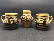 More details for vintage retro glazed vase - brixham pottery devon 1970s (or271)