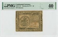 (CC-58) February 26, 1777 $5 Continental Currency Note - PMG XF 40
