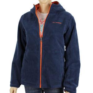 "New Boys Columbia ""Bright Snow II"" Omni-Shield Reversible Hooded Fleece Jacket"