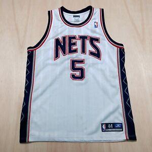 100% Authentic Jason Kidd Reebok Nets Jersey Size 44 L XL Mens