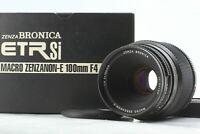 [MINT in BOX] Zenza Bronica Macro Zenzanon E 100mm f/4 for ETR Si from JAPAN 233