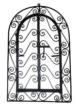Wrought Iron Wall Frame Grille Plaque Rustic Art Moroccan Indoor Outdoor Decor