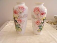 Matched Pair of Handpainted Noritake Vases