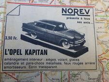 NOREV Ancien PUB - OPEL KAPITAN