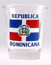 DOMINICAN REPUBLIC FLAG SHOT GLASS SHOTGLASS