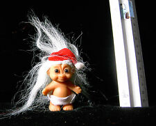 Baby Santa Russ Troll Doll 18446 with Santa Hat and Diaper 2 inches tall
