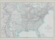 More details for 1863 antique map united states of north america eastern & central weller (da66)