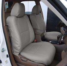 ACURA MDX 2002-2006 GREY S.LEATHER CUSTOM MADE FIT FRONT SEAT COVER