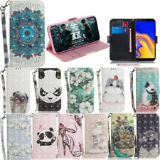 Fashion Lovely cartoon Pattern Magnetic Leather Wallet Stand Case phone Cover #5