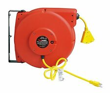 REELWORKS Heavy Duty Extension Cord Reel, 12AWG/3C SJT Triple Tad Cord 65 ft.