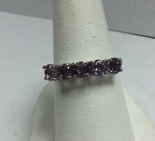 Sterling Silver Purple Cubic Zirconia Ring Size 6 2.0 Grams
