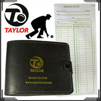 Taylor Bowls Lawn Sports Leather Scorecard Holder & Sport Scorecards Combo Pack