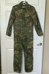 Walls Blizzard Pruf Insulated Coveralls Youth Large READ Measurements Realtree