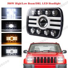 "Super Bright-500W 5x7"" 7x6"" LED Headlight High/Low Beam Fit For Jeep Cherokee XJ"