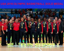 2016 USA Women's Olympic Basketball Gold Medal RIO Brazil 8x10 Team Photo