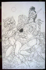 Joe Vigil A2 Original Art Prymal Jungle Warrior Big  Tim Vigil Faust