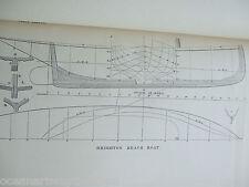 ANTIQUE PRINT C1895 DIXON KEMP YACHT & BOAT SAILING BRIGHTON BEACH BOAT PLANS