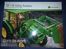 "John Deere ""5D-5E Utility Tractors"" Catalog Brochure Leaflet"