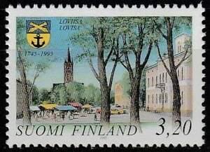 Finland postfris 1995 MNH 1304 - Loviisa 250 Jaar