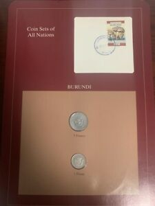 Coin Sets of All Nations BURUNDI 2 Coins Set 1980 1993 Rare
