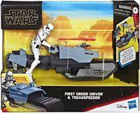 "STAR WARS GALAXY OF ADVENTURES - FIRST ORDER DRIVER + TREADSPEEDER 5"" / HASBRO"