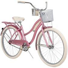 "New listing 26"" Huffy Nel Lusso Classic Women's Cruiser Bike, 1 Speed, Pink Taffeta"