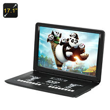 Portable DVD Player 17.1 Inch, 1366x1280, Region Free, Anti Shock, USB, SD, AV
