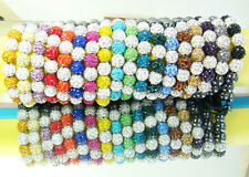 10x Mix Disco Ball Clay Cz beads for shambala Woven bracelet charm Gift #27