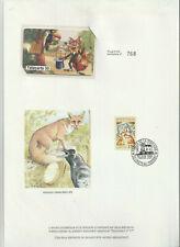 Télécarte editions CEF N°17 avec encart Le corbeau et le renard