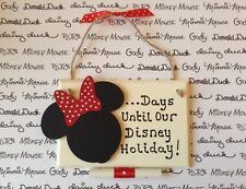 Disney Holiday Countdown/Home Decor/Plaque/Minnie Mouse/Personalised