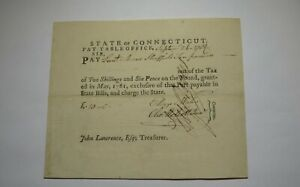 1782 10 Pounds Connecticut CT Pay Table Office Colonial Currency Note Bill! RARE