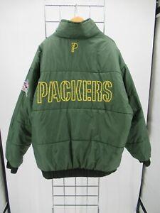H2935 Green Bay Packers NFL-Football Windbreaker Reversible Jacket Size XL