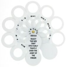 International Plastic Fan Ring Sizer Gauge UK - USA - Europe For Men and Women