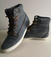 Timberland Earthkeepers Blue Denim High Top Trainer Boot Size UK 4.5