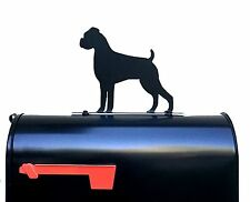 Boxer Dog Silhouette Mailbox Topper / Sign - Powder Coated Steel  - Made in USA