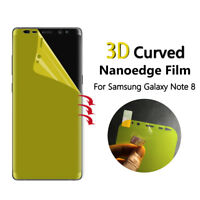 2x TPU Curved Full Coverage Screen Protector Film Cover - Samsung Galaxy Note 8