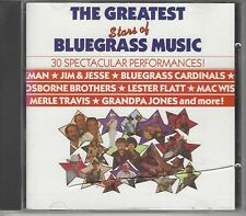 The Greatest Stars of Bluegrass Music: 30 Spectacular Performances! VG!