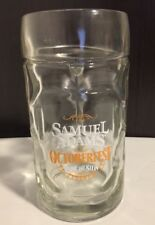 Samuel Sam Adams Octoberfest Beer Mug Dimpled Glass Stein Oktoberfest Brewery