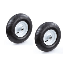 2 Pack Replacement 13 In No Flat Tire Wheel Black for Garden Carts Hand Trucks