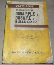 KOMATSU D60A-6 D60P-6 D60PL-6 D65A-6 CRAWLER DOZER PARTS MANUAL BOOK CATALOG