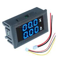 DC 100V 10A Dual LED Blue+Blue Digital Volt Amp Meter Gauge Voltmeter Ammeter