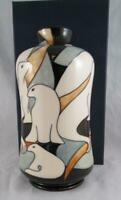 2009 Moorcroft Pottery POLE TO POLE Seal Vase 98/8 Kerry Goodwin 1st Quality WOW