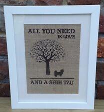 Shih Tzu Dog Framed Wall Art/Hand Crafted/Gift/Dog Lovers/Gift