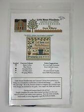 Little House Needleworks Cross Stitch Kit LOVE AND FAITHFULNESS Chart & Threads