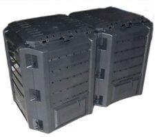Garten Komposter 800 L schwarz Modul Thermo-Komposter Kompostbehälter Kunststoff