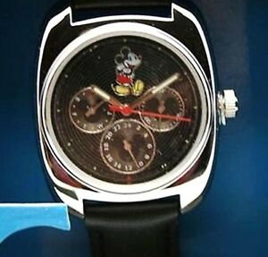Disney Mickey Mouse Watch Men's Black Day - Date Dial Watch New